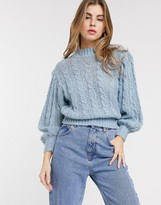 Asos Design DESIGN cable sweater in lofty knit