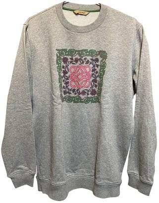 Loewe Grey Cotton Knitwear for Women