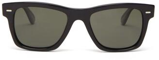 Oliver Peoples Square Acetate Sunglasses - Mens - Black