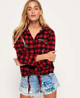 Superdry Zephyr Check Tie Front Shirt