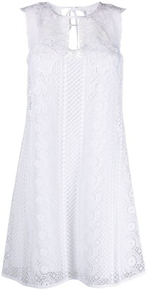 Alberta Ferretti Embroidered Sleeveless Dress