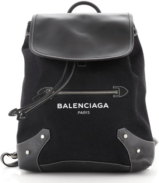 Balenciaga Traveller Belharra Backpack Canvas with Leather Medium