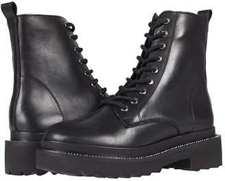 Steve Madden Graham Boot (Black Leather) Women's Shoes