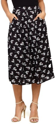 M&Co Izabel floral print midi skirt