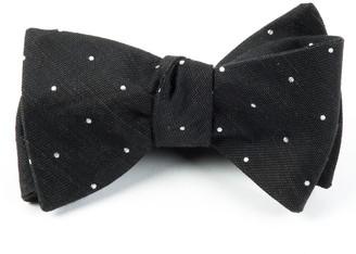 Tie Bar Bulletin Dot Black Bow Tie