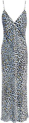 Olivia von Halle Issa Printed Silk-satin Slip Dress