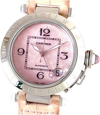 Cartier Pasha GMT Pink Steel Watches