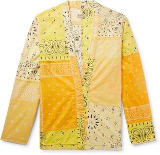 KAPITAL Patchwork Bandana-Print Cotton-Blend Shirt