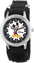 Disney Kids' W000239 Mickey Mouse Stainless Steel Time Teacher Watch with Moving Hands