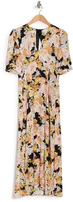 Topshop 70s Floral Midi Dress
