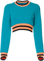 Versus thin-waisted cropped sweatshirt