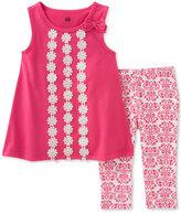 Kids Headquarters 2-Pc. Floral Tunic and Capri Pants Set, Little Girls (2-6X)