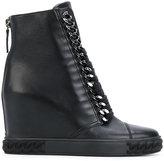 Casadei concealed platform ankle boots