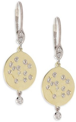 Meira T 18K Yellow Gold & Diamond Disc Earrings