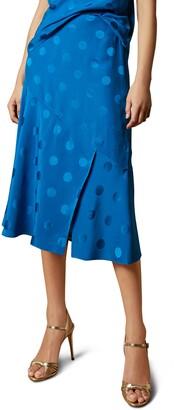 Ted Baker Dellla Spot Fabric Midi Skirt
