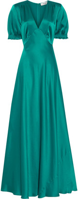 Diane von Furstenberg Avianna Shirred Satin Gown