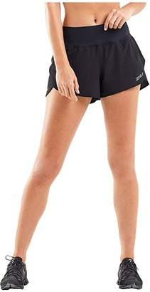 2XU XVENT 3 Layer Shorts (Black/Silver Reflective) Women's Shorts