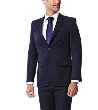 Haggar Men's Travel Performance Tailored-Fit Suit Jacket