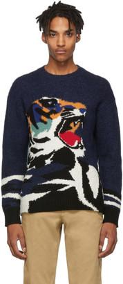 Kenzo Navy Big Tiger Sweater