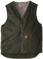 Carhartt Men's Big & Tall Sherpa Lined Sandstone Rugged Vest V26
