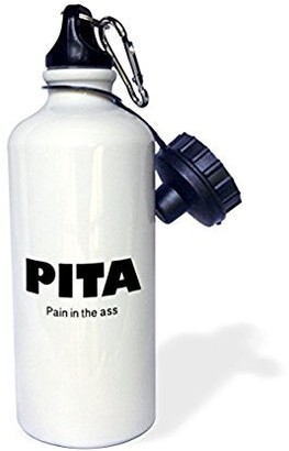 3drose 3dRose PITA PAIN IN THE ASS, Sports Water Bottle, 21oz