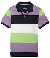 Class Club 8-20 Wide Striped Pique Polo Shirt