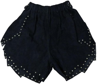 Philosophy di Lorenzo Serafini Black Suede Shorts for Women