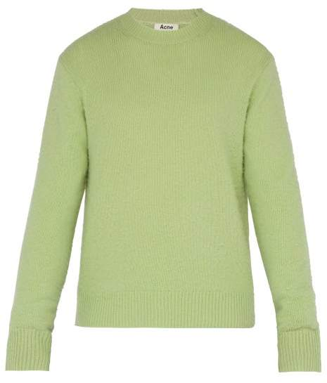 Acne Studios Wool And Cashmere Blend Sweater - Mens - Light Green