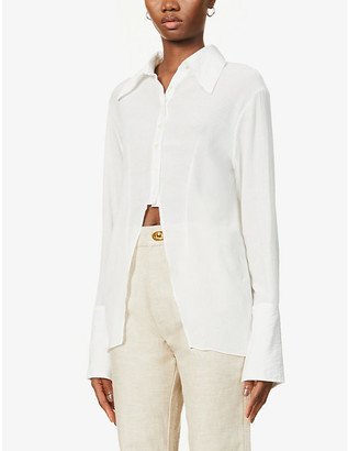 The Line By K Leomie crinkle-textured woven shirt