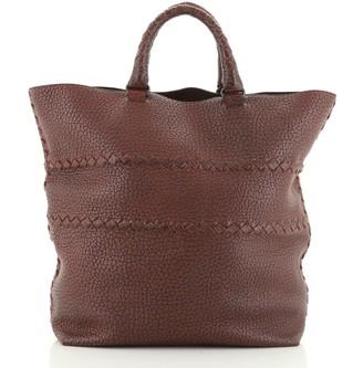 Bottega Veneta Open Tote Cervo Leather with Intrecciato Detail Large