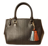 Imoshion Medium Snake Embossed Tassel Charm Satchel