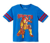Marvel Boys' 4-7 Blue Short Sleeve Iron Man Tee