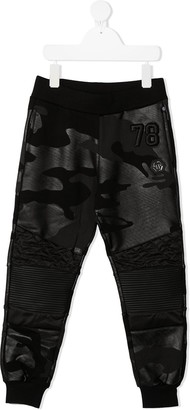 Philipp Plein Junior Camouflage Print Track Trouser