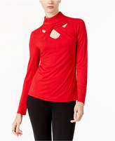 INC International Concepts I.n.c. Mock-Neck Cutout Top, Created for Macy's