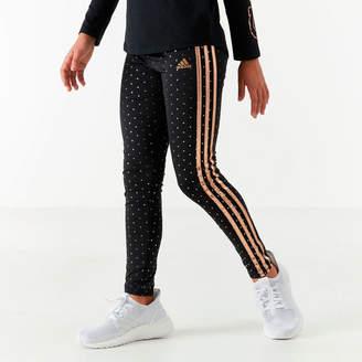 adidas Girls' Dot Print Leggings