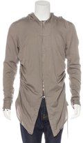 Julius Silk-Blend Hooded Ruched Jacket w/ Tags