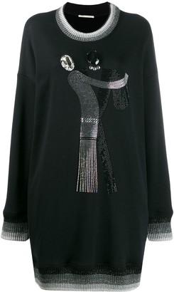 Marco De Vincenzo Oversized Embellished Sweatshirt