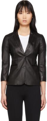 The Row Black Leather Nolbon Jacket
