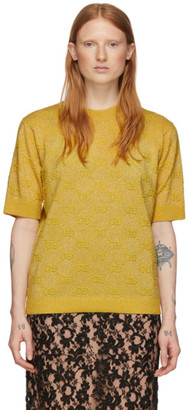 Gucci Yellow Lurex GG Sweater