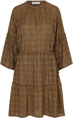 MUNTHE Caramel Viscose Deep Dress - 34 - Brown