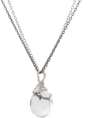 Michael Aram Enchanted Forest Wrap Necklace w/ Crystal & Diamonds