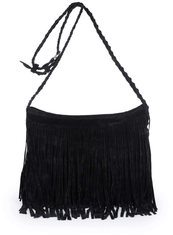 477fde65dc28 SXON Nubuck Leather Fringed Shoulder Bag Classic Design Leisure Daily Feale