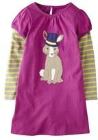 Mini Boden Appliqué Layered Sleeve Dress (Toddler Girls, Little Girls & Big Girls)