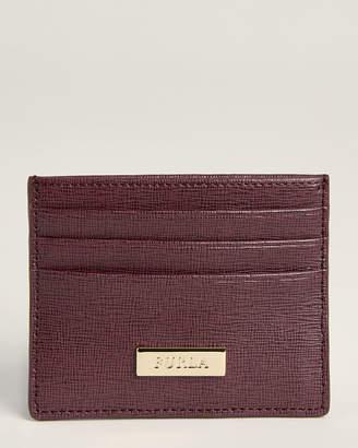 Furla Bordeaux Saffiano Leather Classic Card Case