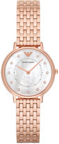 Emporio Armani Women's Rose Gold-Tone Stainless Steel Bracelet Watch 32mm AR11006