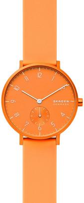Skagen SKW2821 Aaren Kulor Neon Orange Silicone