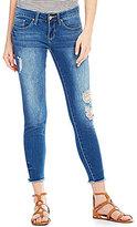 YMI Jeanswear Love Raw Hem Ankle Skinny Jeans