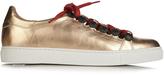 Toga Stud-embellished metallic-leather trainers