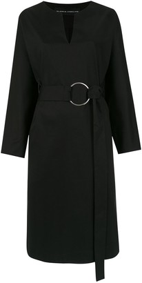 Gloria Coelho Midi Belted Dress