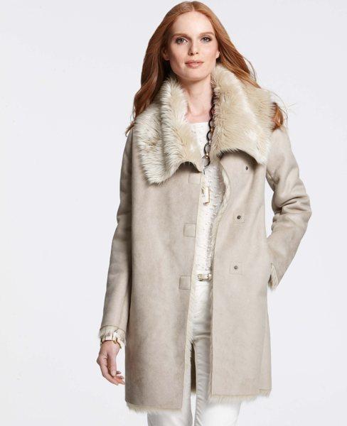 Ann Taylor Petite Faux Shearling Coat